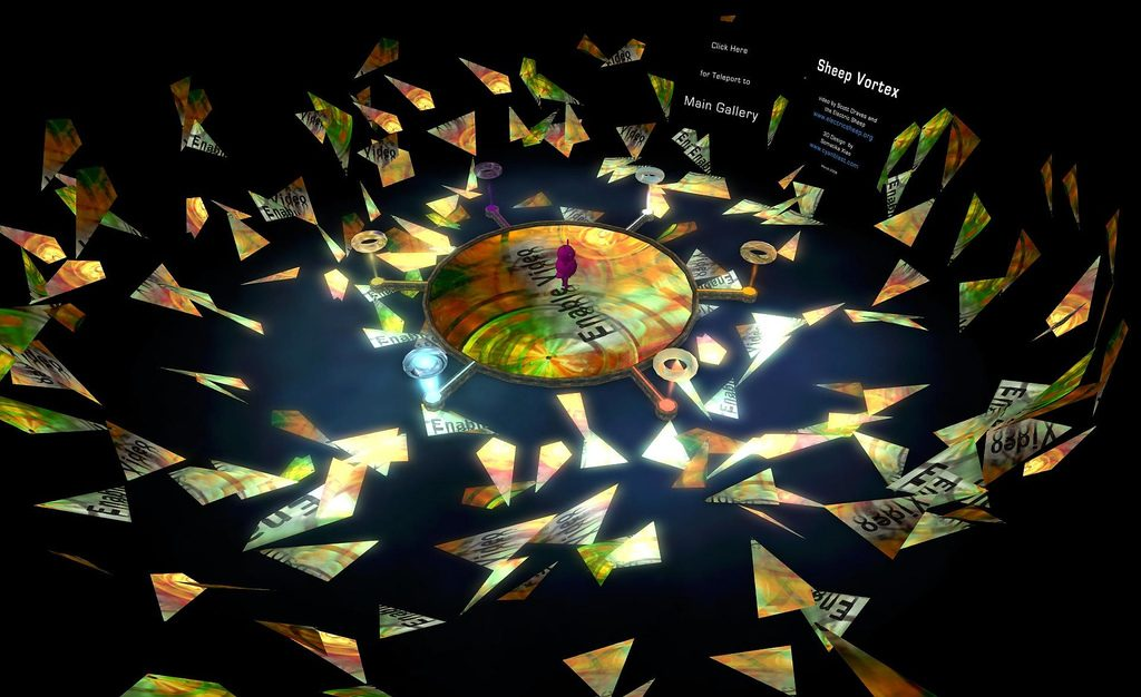 "Sheep Vortex"" by Scott Draves and the Electric Sheep @ www.electricsheep.org with 3D Design by Somatika Xiao of www.cyanblast.com -"