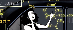 Hedy Lamarr screenshot from Google doodle