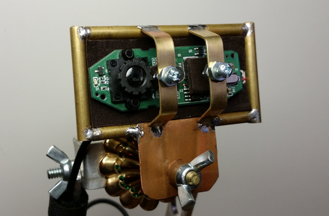 Steampunk-themed  hacked web cam