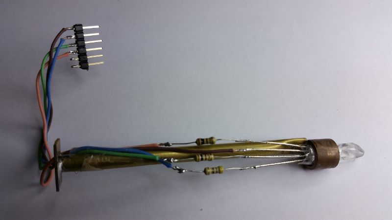 Graphic #2 - LED, resistors and support tube