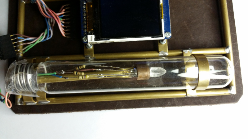 Graphic #1 - Ozone tube on the Steampunk Conference Badge