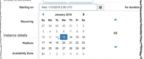 Calendar for AWS Scheduled Instances