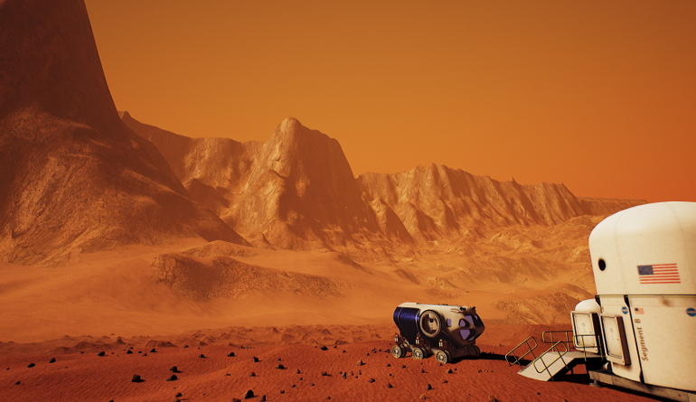 NASA VR Mars simulation