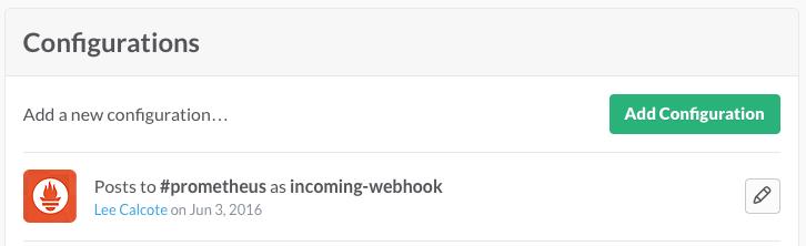 Slack Incoming Webhook for Prometheus AlertManager