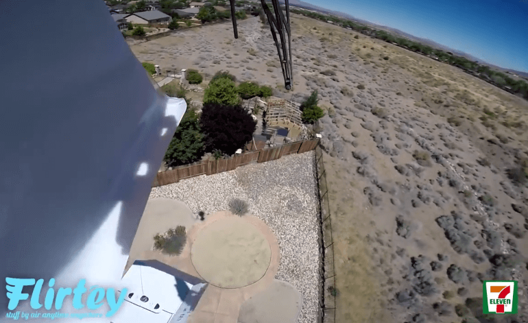 Flirtey screencap from Drone video