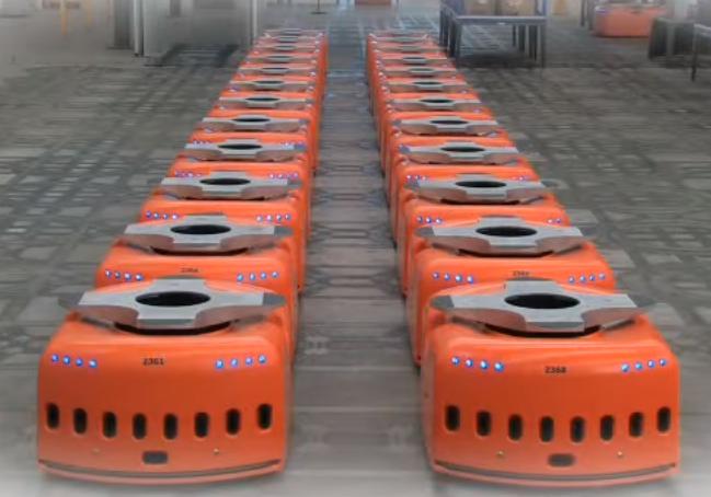 Holiday Season Spurs Warehouse Robot War between Amazon and Walmart