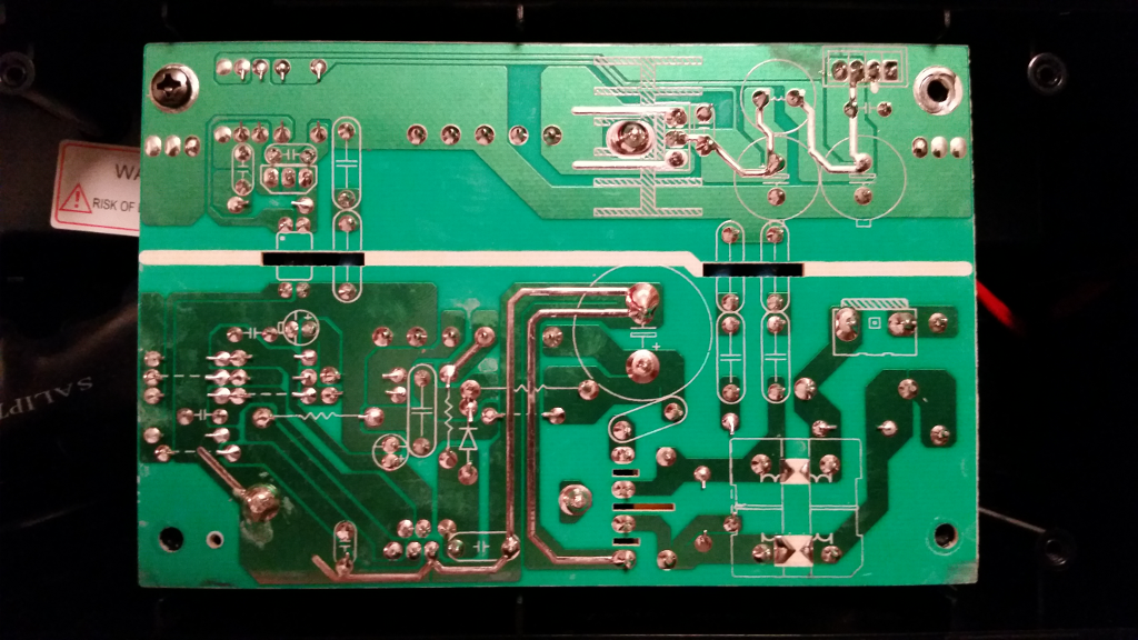 Back Side Of The Power Supply