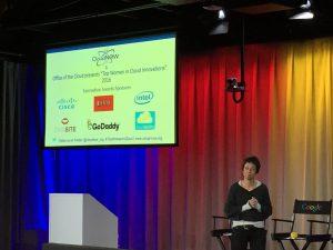 Mai-Lan Tomsen-Bukovek giving her keynote address