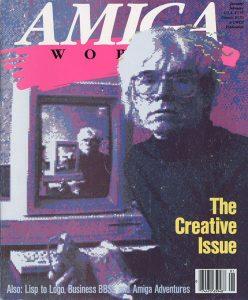 Amiga World cover by Andy Warhol - via Computer History museum site