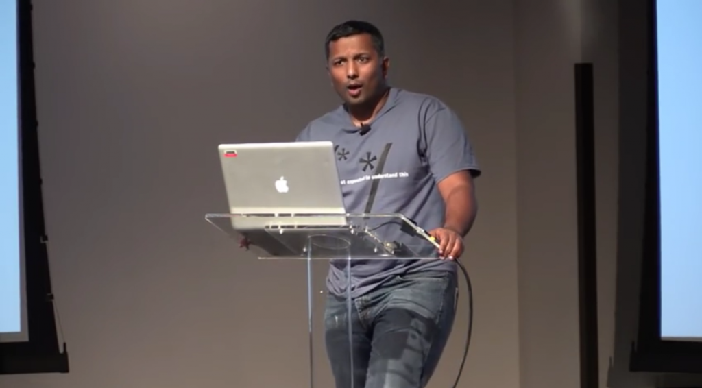 Arun Thomas at Systems We Love conference