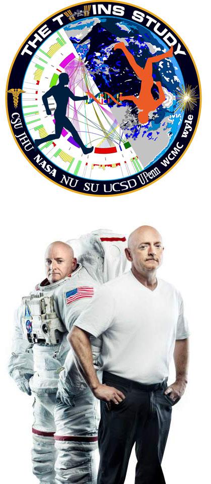 Scott and Mark Kelly - NASA twin study