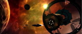 Screenshot from Elite Dangerous trailer on Kickstarter