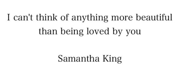 Samantha King poem