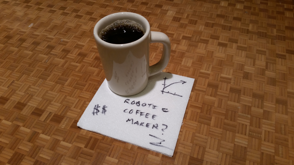 Off-The-Shelf Hacker: Thinking About a Robotic Coffee Maker