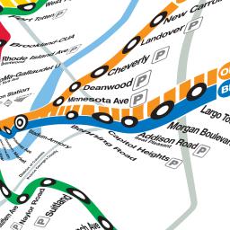 DC Metro - corrected subway map by Benjamin Schmidt