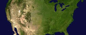 NASA photo - USA by satellite