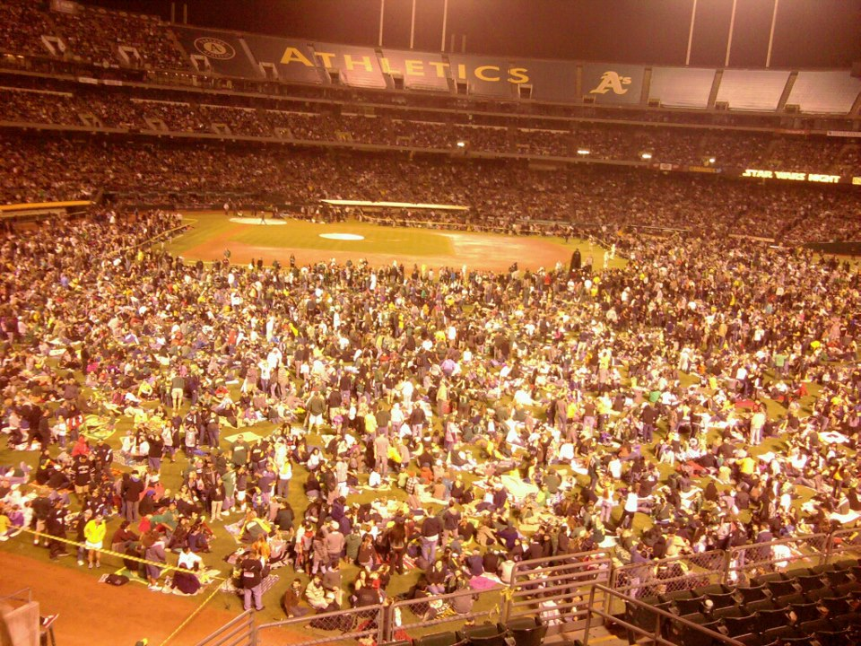 Oakland Coliseum September 14 2012 - Star Wars fireworks