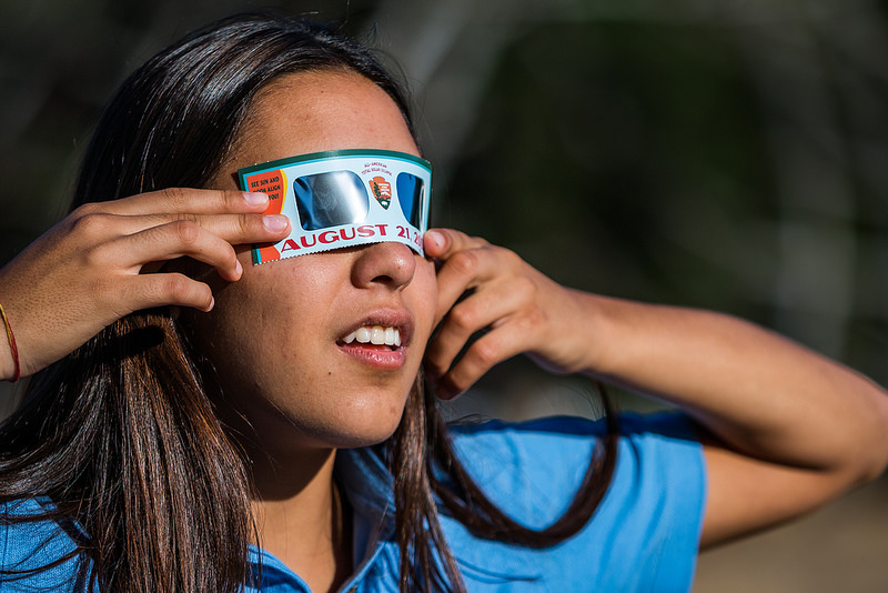 National Park Service (demo of eclipse glasses from July)