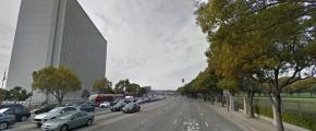 Wilshire Blvd (via Google Street View) - going against traffic