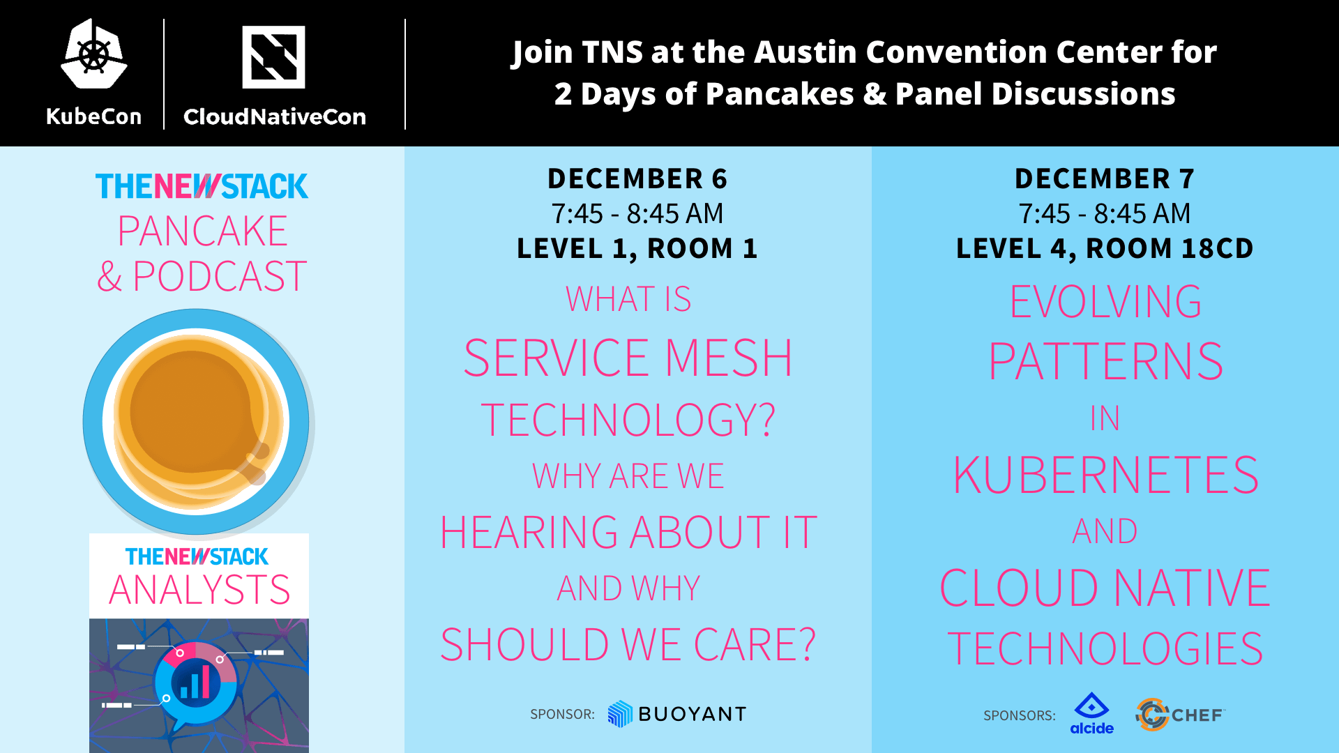 http://events.linuxfoundation.org/events/kubecon-and-cloudnativecon-north-america/extend-the-experience/the-newstack-pancake-breakfast-amp-podcast