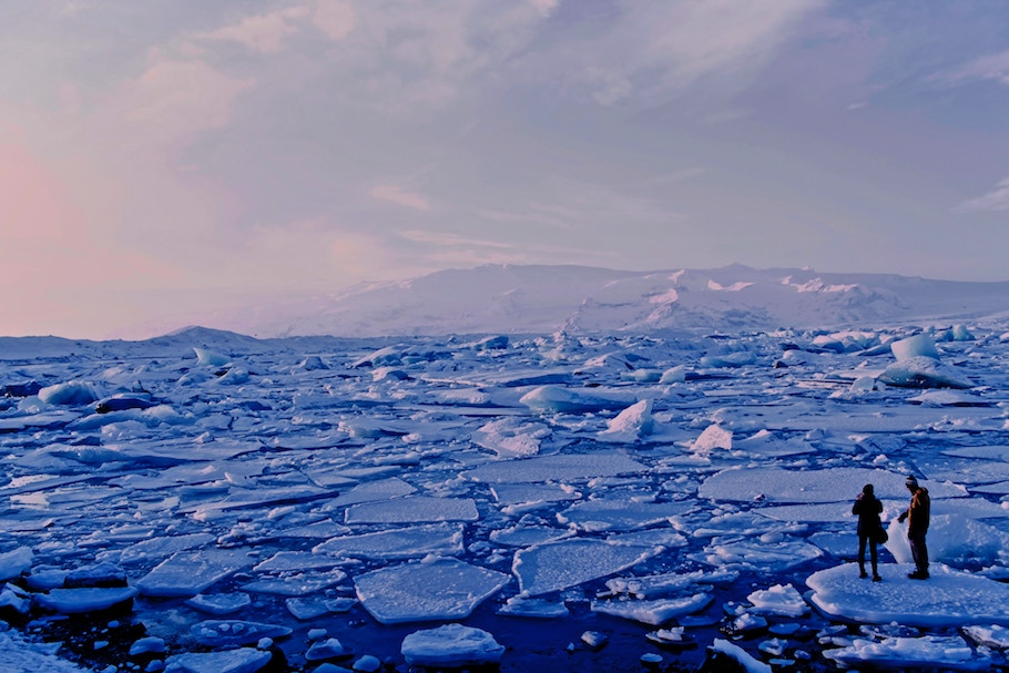 melting ice in Iceland