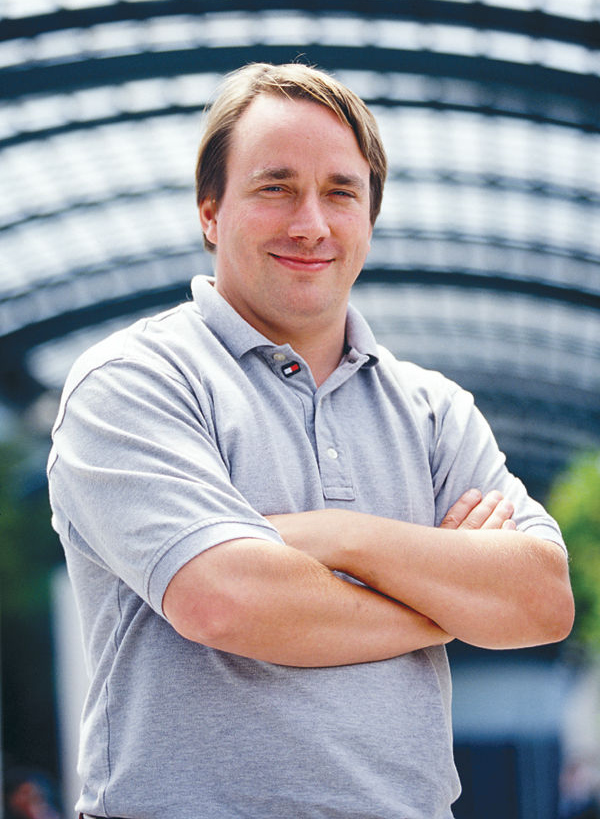 Linus Torvalds image GFDL. Permission of Martin Streicher, Editor-in-Chief, LINUXMAG.com