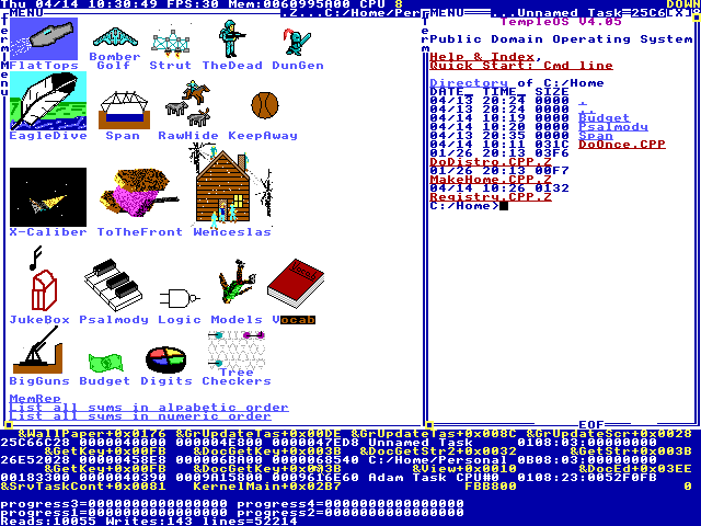 TempleOS screenshot