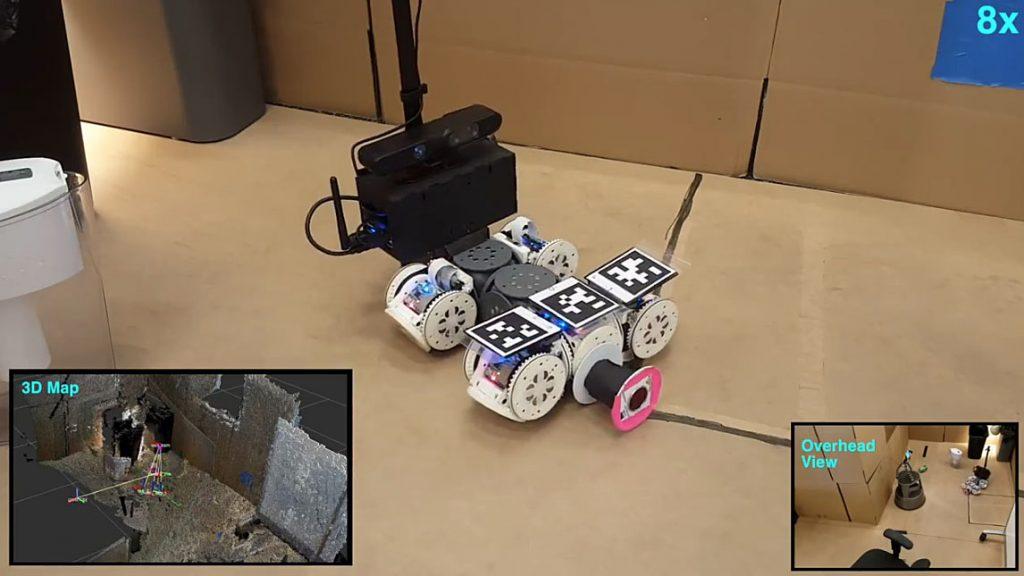 Autonomous Modular Robot Self-Transforms to Bypass Obstacles - The