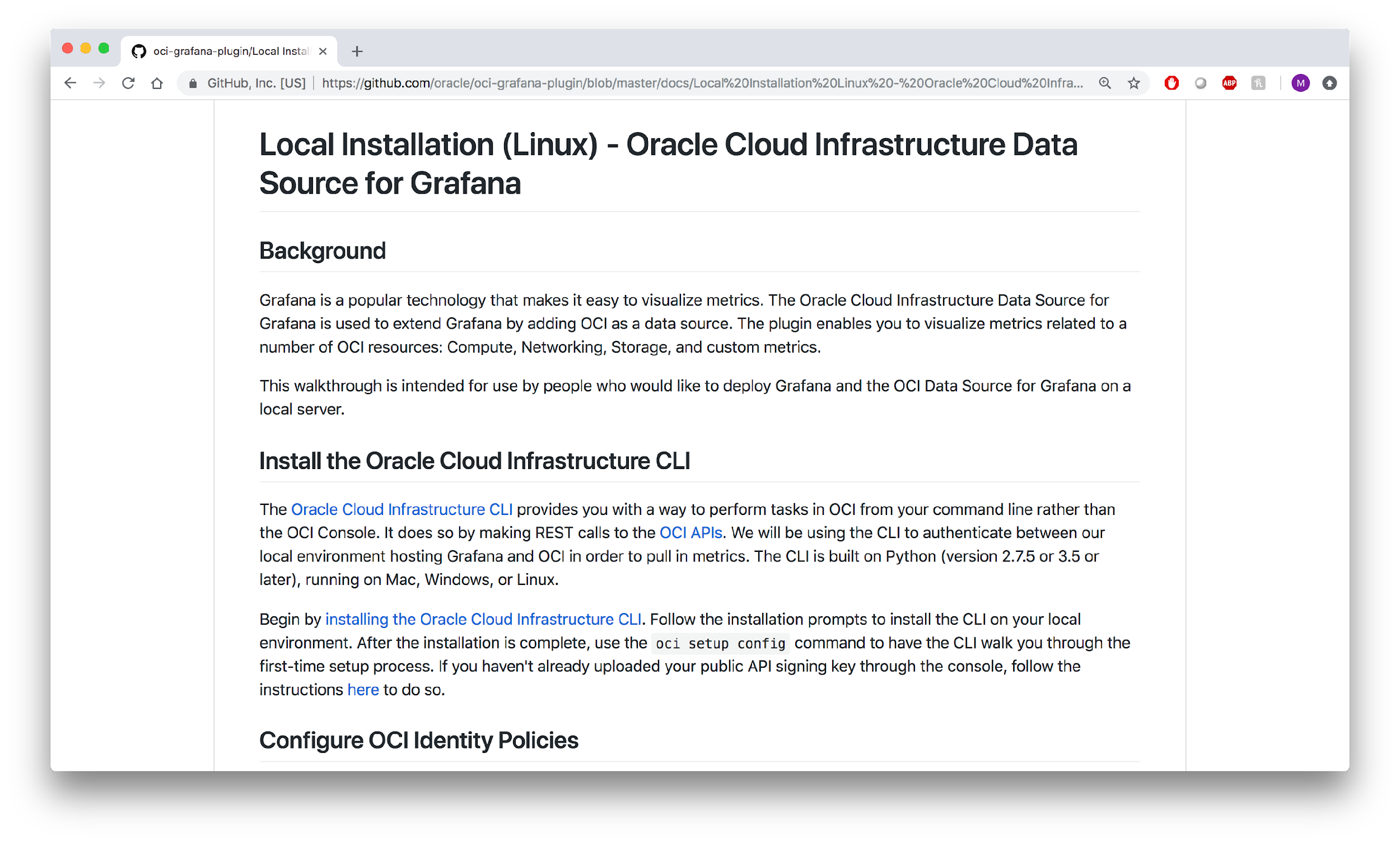 How Oracle Plugs into the Cloud Native Dashboard Grafana