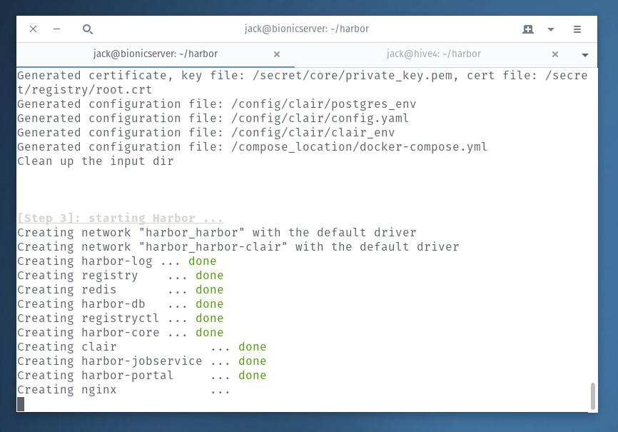 Tutorial: Install the Docker Harbor Registry Server on