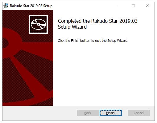Rakudo Star setup complete