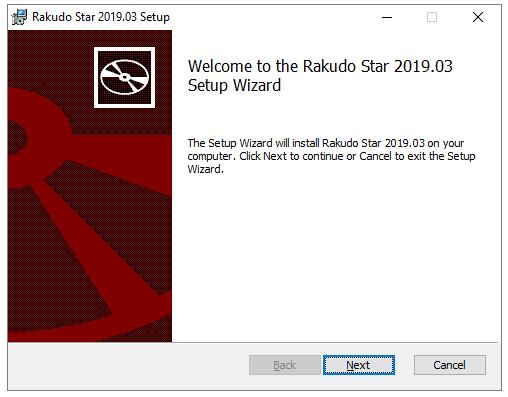 Rakudo Star 2019 03 Setup wizard