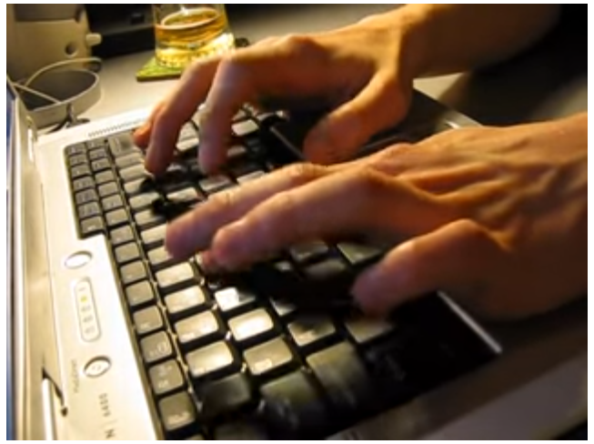 Screenshot of keyboard video