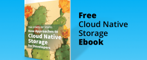 Free cloud native storage ebook graphic