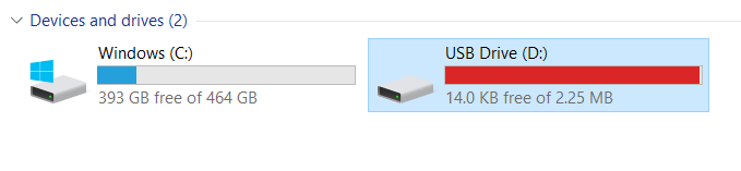 USB stick ready to boot.