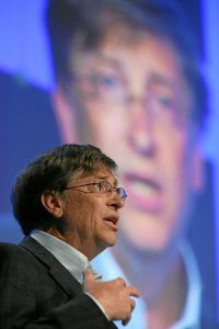 Bill Gates speaks at the World Economic Forum