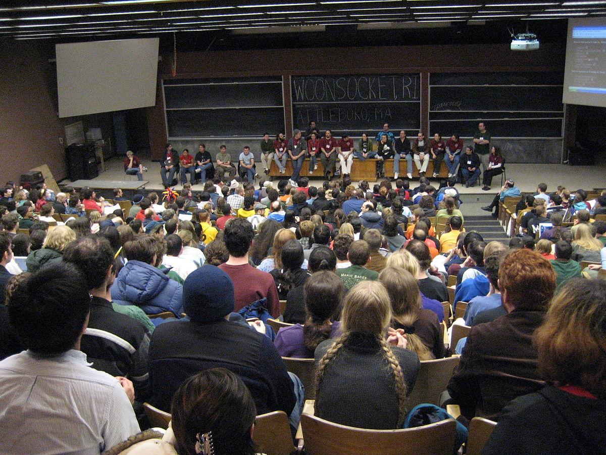 MIT puzzle hunt via Wikipedia - picture by Barak Michener