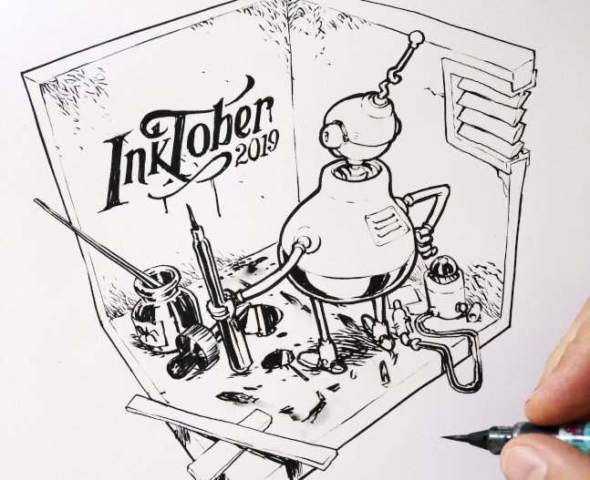 Inktober 2020 Prompts List.Ai Weirdness Comes To Inktober The New Stack