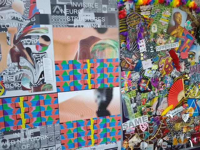 A mood board created for the neurodiversity space at MozFest