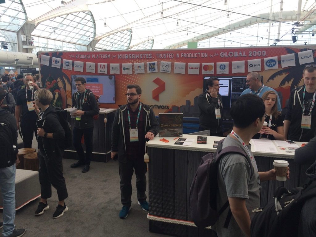 Portworx booth at KubeCon San Diego 2019