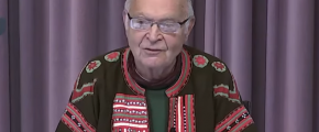 Donald Knuth 2019 - screenshot from Christmas Tree Lecture - Pi and the art of Computer Programming