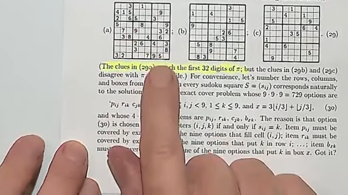 hands of Donald Knuth - screenshot from 2019 Christmas lecture (pi hidden in Sudoku puzzle).