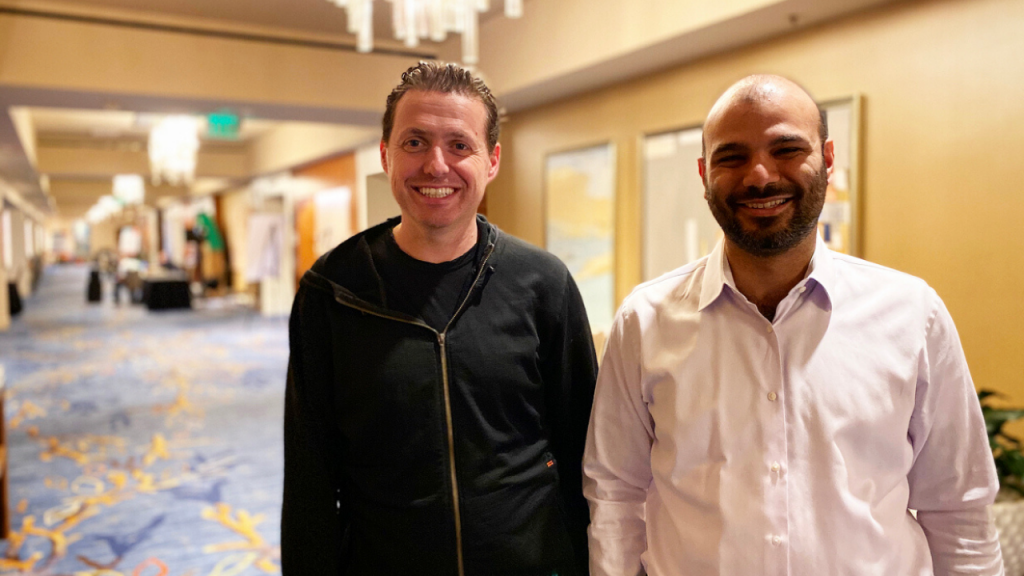 James Watters and Sina Sojoodi at KubeCon San Diego 2019