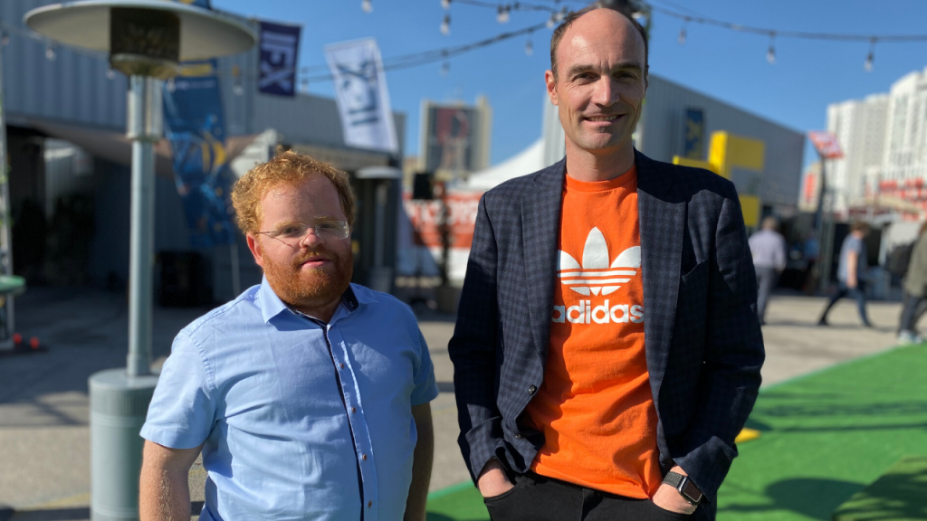 Liran Tancman and Corey Scobie at ReInvent 2019