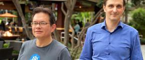 Steven Wong Dejan Bosanac at KubeCon San Diego