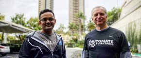 Audrius Stripeikis and Parasar Kodati at KubeCon San Diego