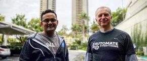 Audrius Stripeikis and Parasar Kodati at KubeCon San Diego