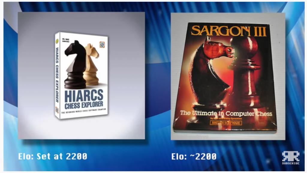 Amiga vs modern Mac - via Retro Recipes - HIARCs v Sargon III.