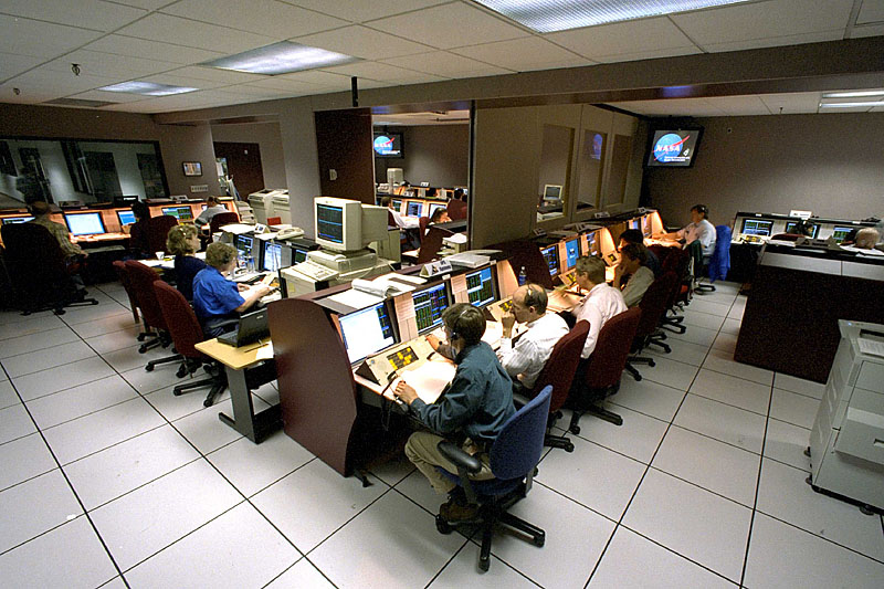 Hubble Control Center at Goddard Space Flight Center, 1999 - via HubbleSite dot org and Wikipedia