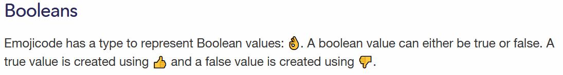 Booleans in Emojicode